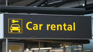 Табличка Car Rental Almaty